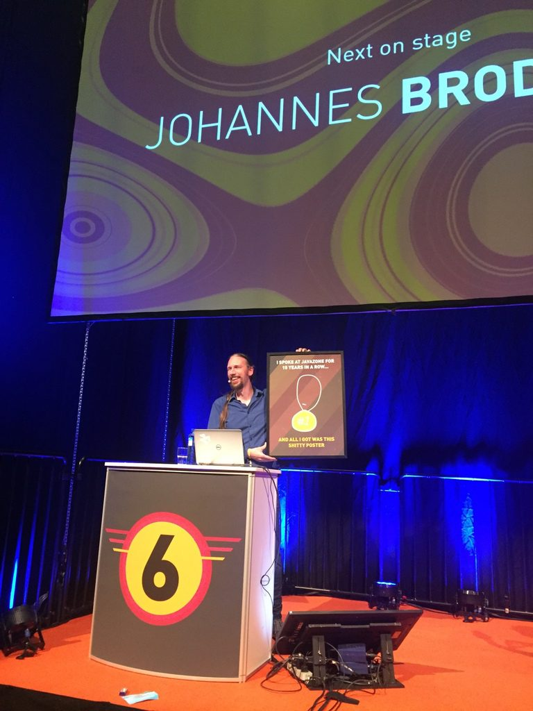 Johannes Brodwall on stage